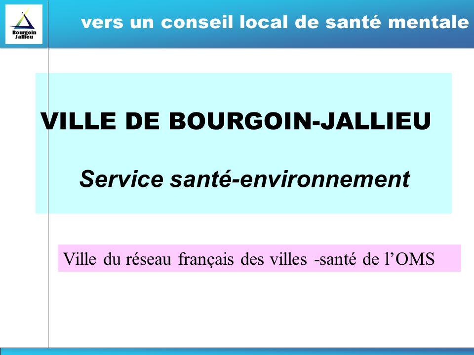 VILLE DE BOURGOIN-JALLIEU Service santé-environnement vers un conseil local de santé mentale Ville du réseau français des villes -santé de lOMS