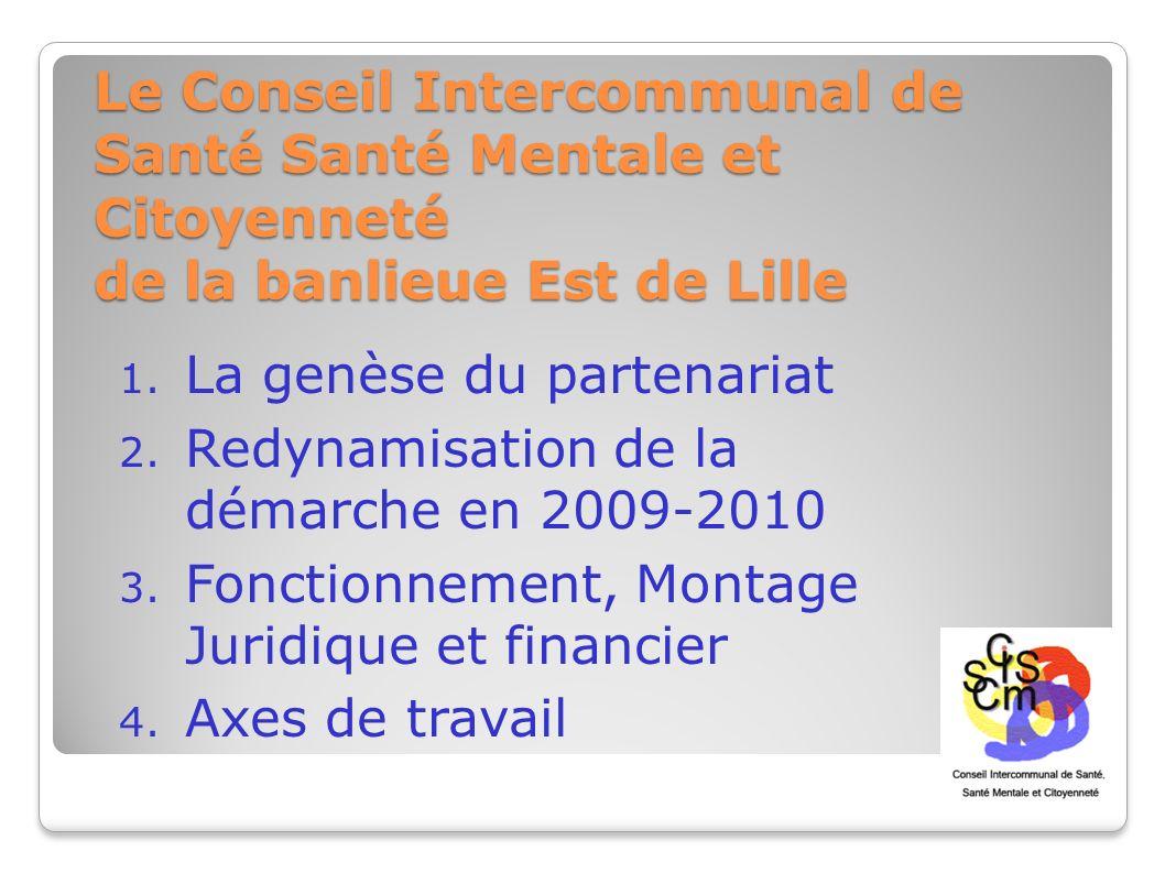 Le Conseil Intercommunal de Santé Santé Mentale et Citoyenneté de la banlieue Est de Lille 1. La genèse du partenariat 2. Redynamisation de la démarch