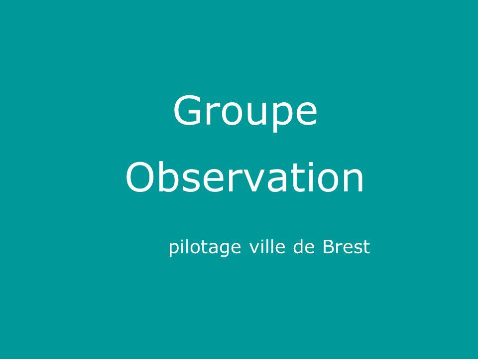 Groupe Observation pilotage ville de Brest