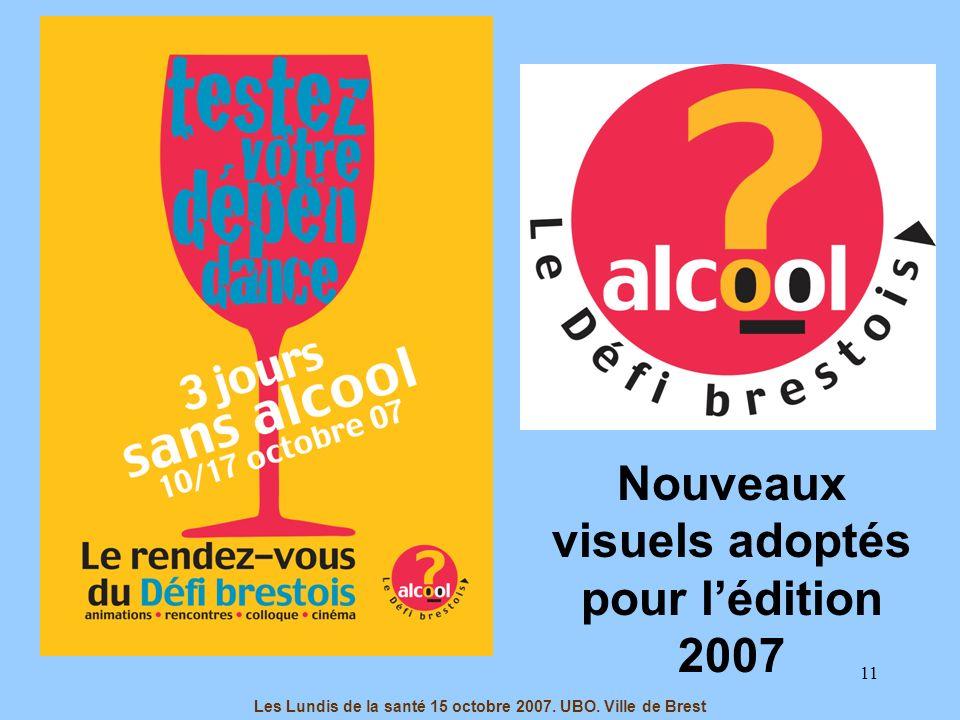 11 Les Lundis de la santé 15 octobre 2007. UBO. Ville de Brest Nouveaux visuels adoptés pour lédition 2007