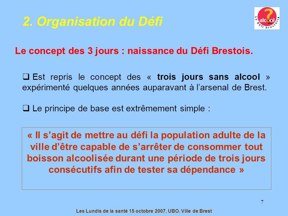 7 Est repris le concept des « trois jours sans alcool » expérimenté quelques années auparavant à larsenal de Brest. Le principe de base est extrêmemen
