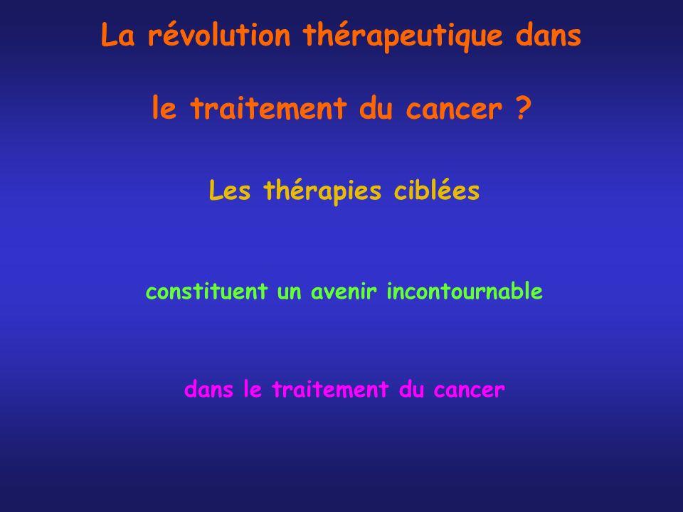 La révolution thérapeutique dans le traitement du cancer ? Les thérapies ciblées constituent un avenir incontournable dans le traitement du cancer