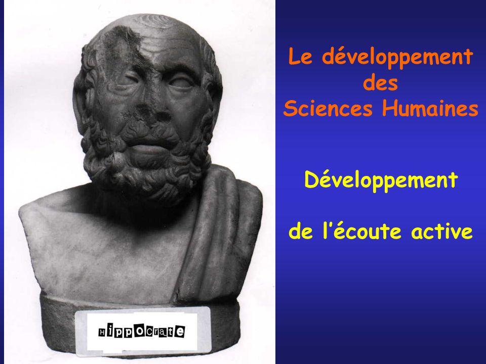 Le développement des Sciences Humaines Développement de lécoute active