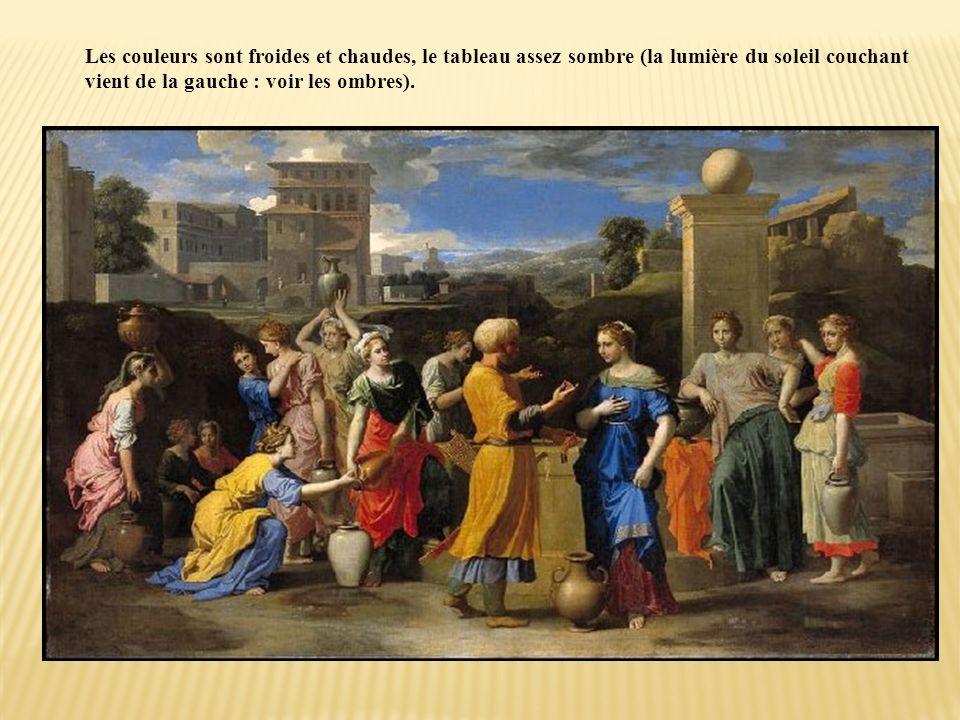 Le tableau illustre un épisode de lAncien Testament, extrait de la genèse. Parmi les femmes à la fontaine, Eliézer doit reconnaître en celle qui lui d