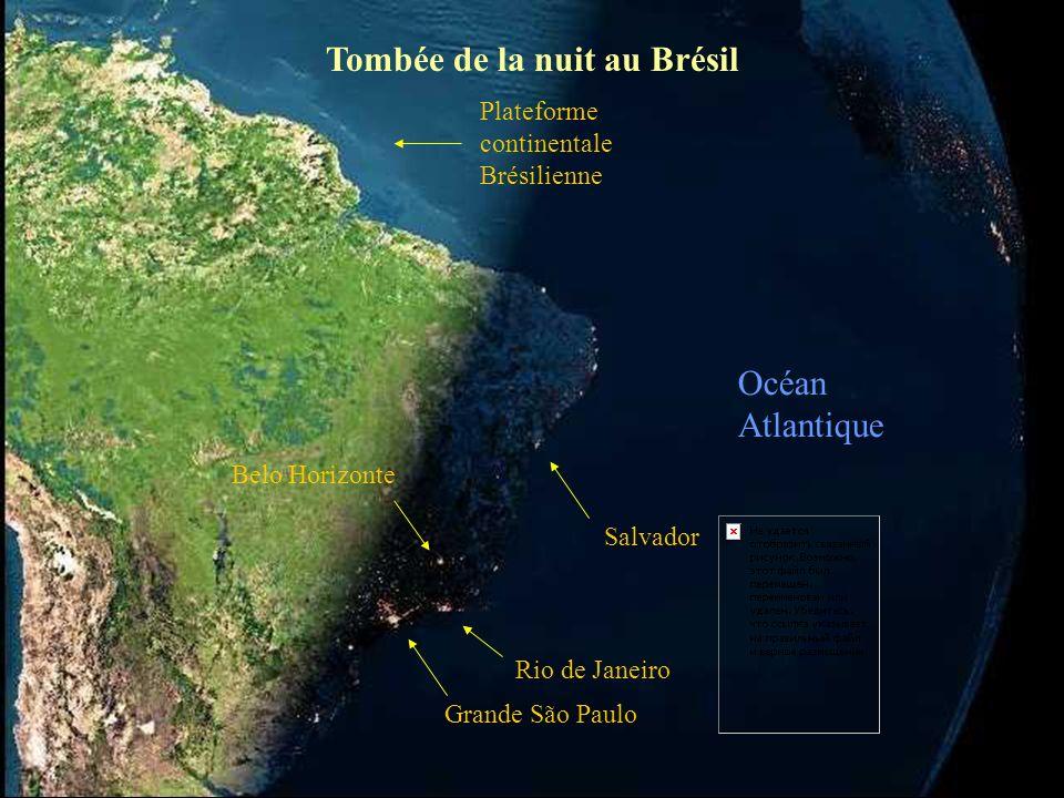 France Islande Italie Plateforme continentale Angleterre Afrique La nuit est déjà tombée Espagne Océan Atlantique Iles du Cap Vert Iles Canaries Iles de Madère et les Açores