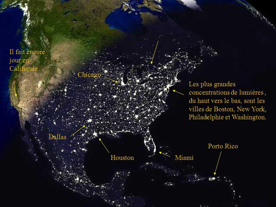 Tombée de la nuit aux Etats-Unis
