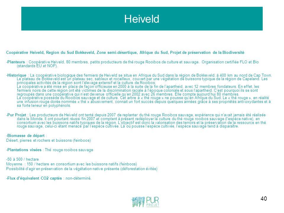 40 Heiveld Coopérative Heiveld, Region du Sud Bokkeveld, Zone semi-désertique, Afrique du Sud, Projet de préservation de la Biodiversité -Planteurs :