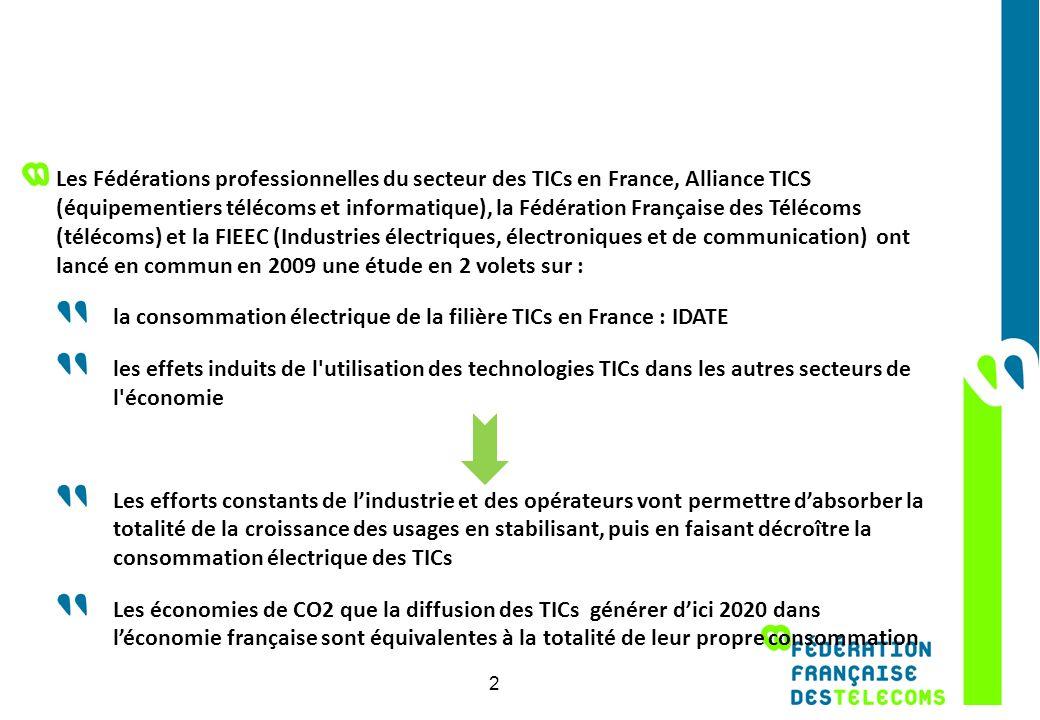 2 15.1 2.7 15.1 2.7 8. 16.8 Les Fédérations professionnelles du secteur des TICs en France, Alliance TICS (équipementiers télécoms et informatique), l