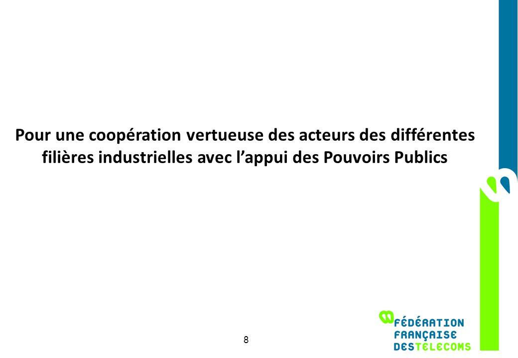 Pour une coopération vertueuse des acteurs des différentes filières industrielles avec lappui des Pouvoirs Publics 8