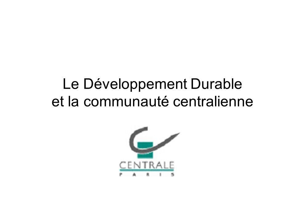 Le Développement Durable et la communauté centralienne