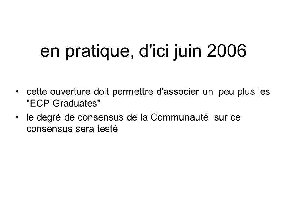en pratique, d'ici juin 2006 cette ouverture doit permettre d'associer un peu plus les