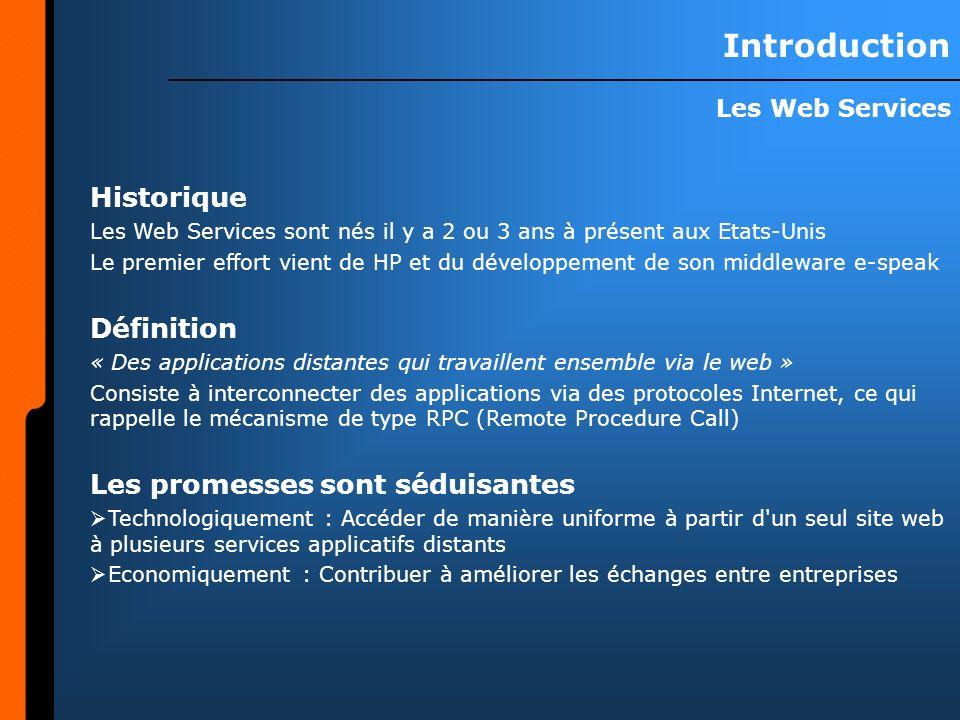 Champ dapplication Quoi faire de ces Web Services.