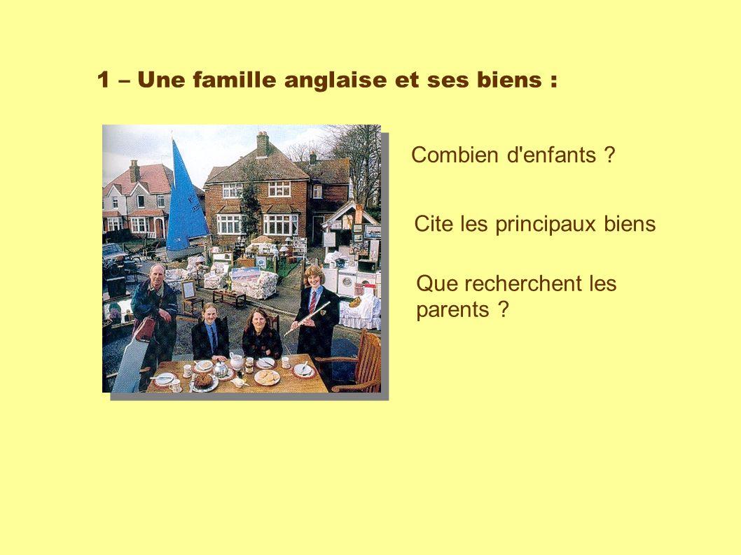 1 – Une famille anglaise et ses biens : Combien d enfants .