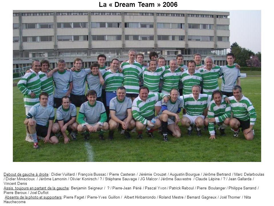 La « Dream Team » 2006 Debout de gauche à droite : Didier Vuillard / François Bussac / Pierre Casteran / Jérémie Crouzet / Augustin Bourgue / Jérôme B