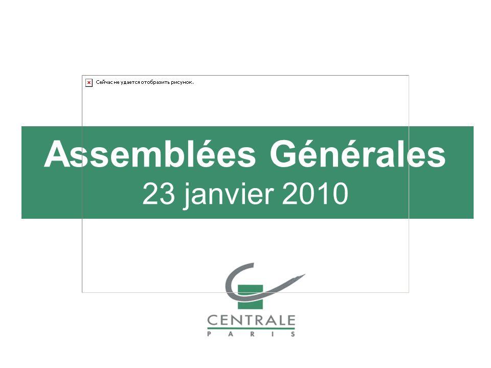 Assemblées Générales 23 janvier 2010