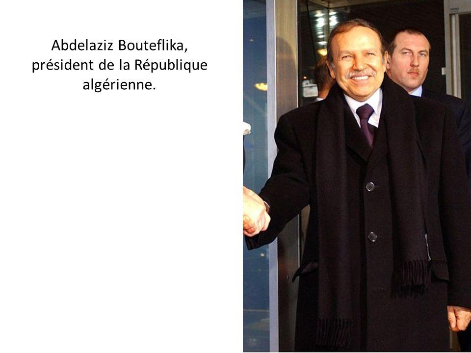 Abdelaziz Bouteflika, président de la République algérienne.