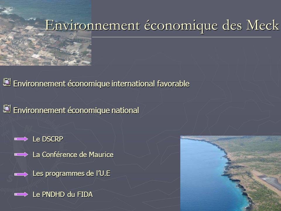 Environnement économique des Meck Environnement économique international favorable Environnement économique international favorable Environnement écon