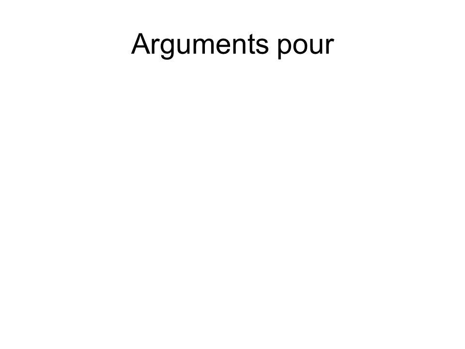 Arguments pour