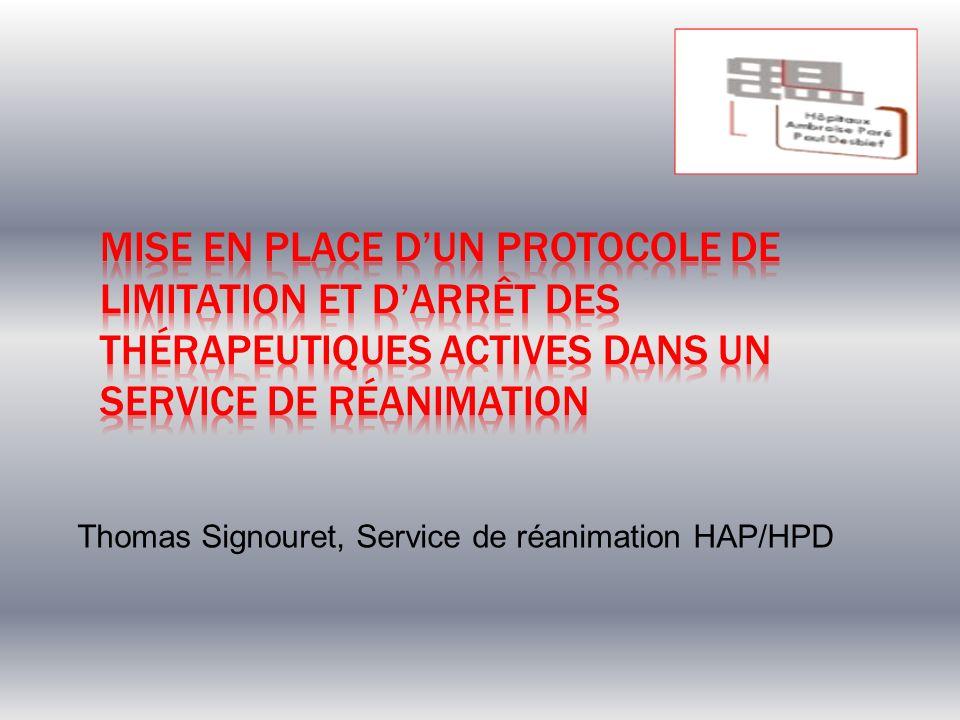 Thomas Signouret, Service de réanimation HAP/HPD