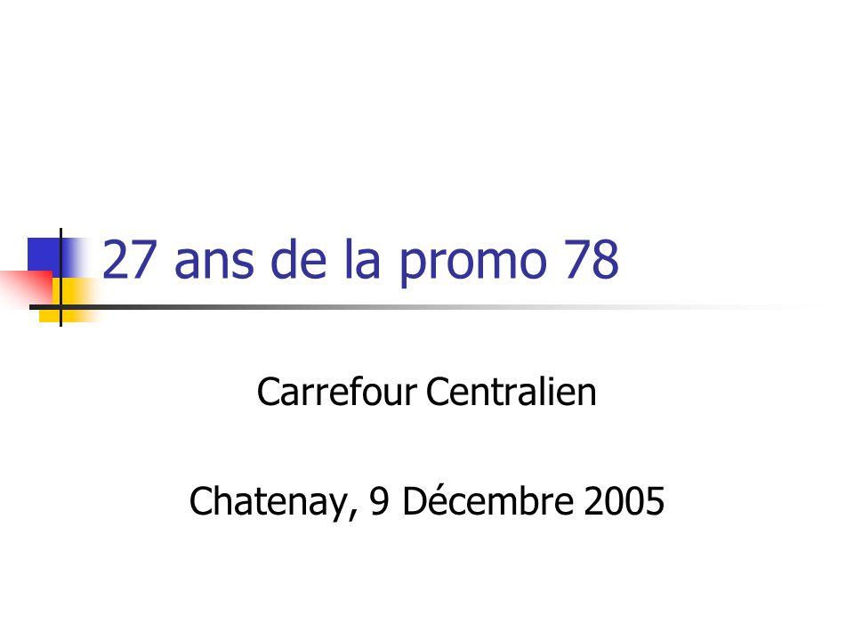 27 ans de la promo 78 Carrefour Centralien Chatenay, 9 Décembre 2005