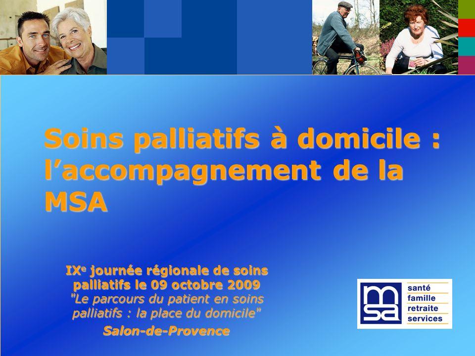 IX e journée régionale de soins palliatifs à domicile - 09 octobre 2009 – Salon de Provence Je vous remercie de votre attention.