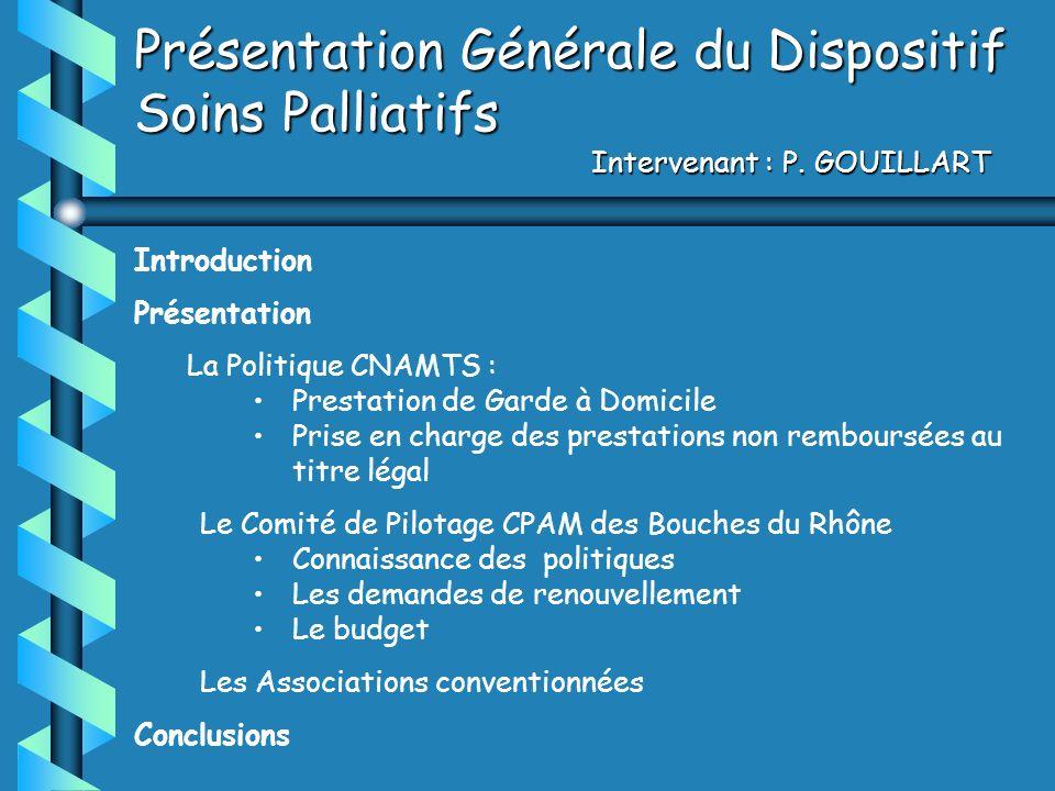 Introduction Présentation La Politique CNAMTS : Prestation de Garde à Domicile Prise en charge des prestations non remboursées au titre légal Le Comit