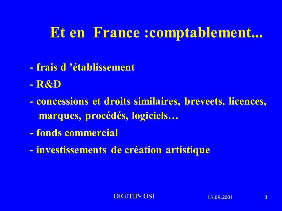 13.09.20013 DIGITIP- OSI Et en France :comptablement...