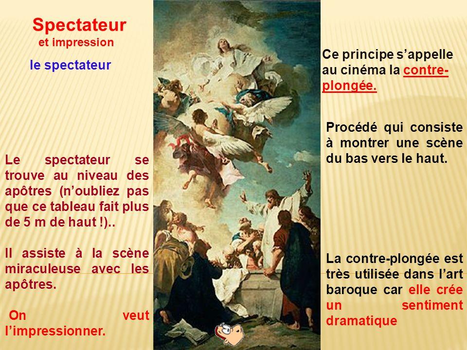 Le spectateur se trouve au niveau des apôtres (noubliez pas que ce tableau fait plus de 5 m haut !).. Il assiste à la scène miraculeuse avec les apôtr