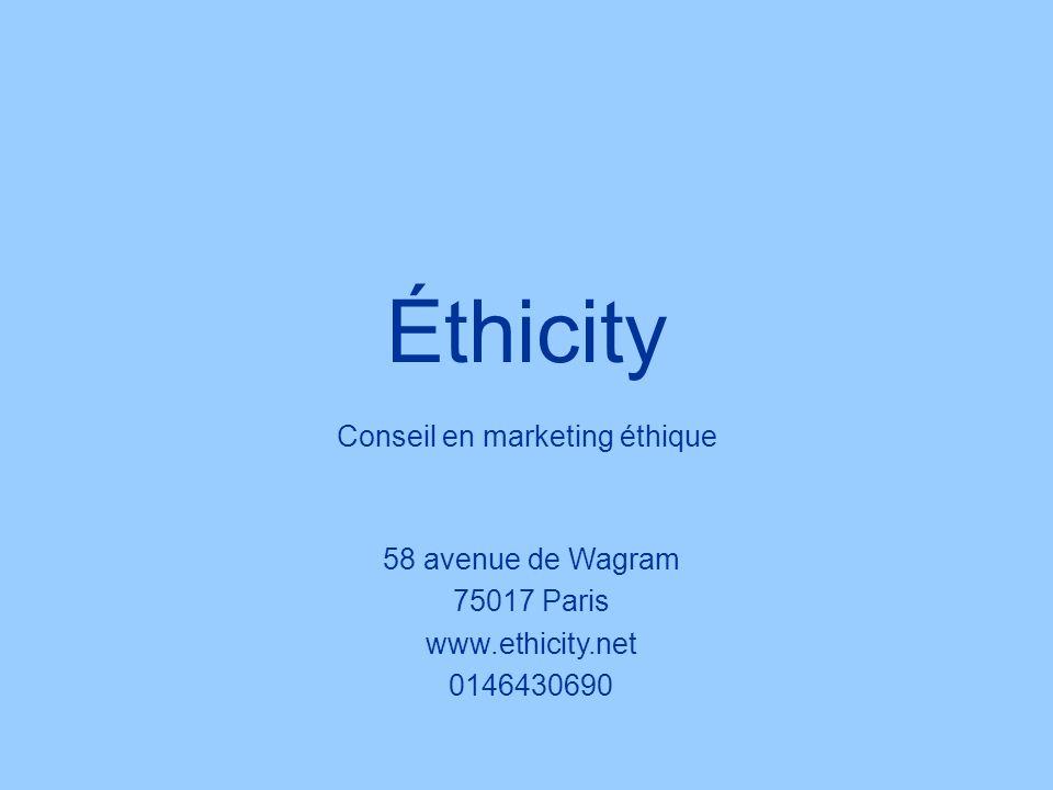 Ethicity Traduction de la stratégie Développement Durable Dynamique de partage Partenariat Société civile Marketing Client Nos domaines d intervention