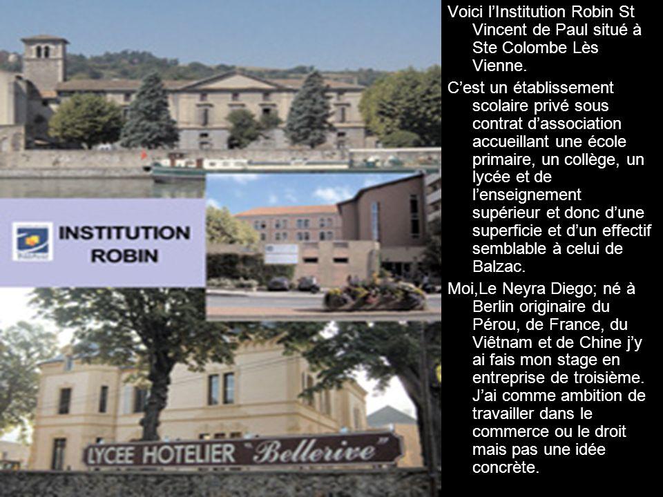 Voici lInstitution Robin St Vincent de Paul situé à Ste Colombe Lès Vienne. Cest un établissement scolaire privé sous contrat dassociation accueillant