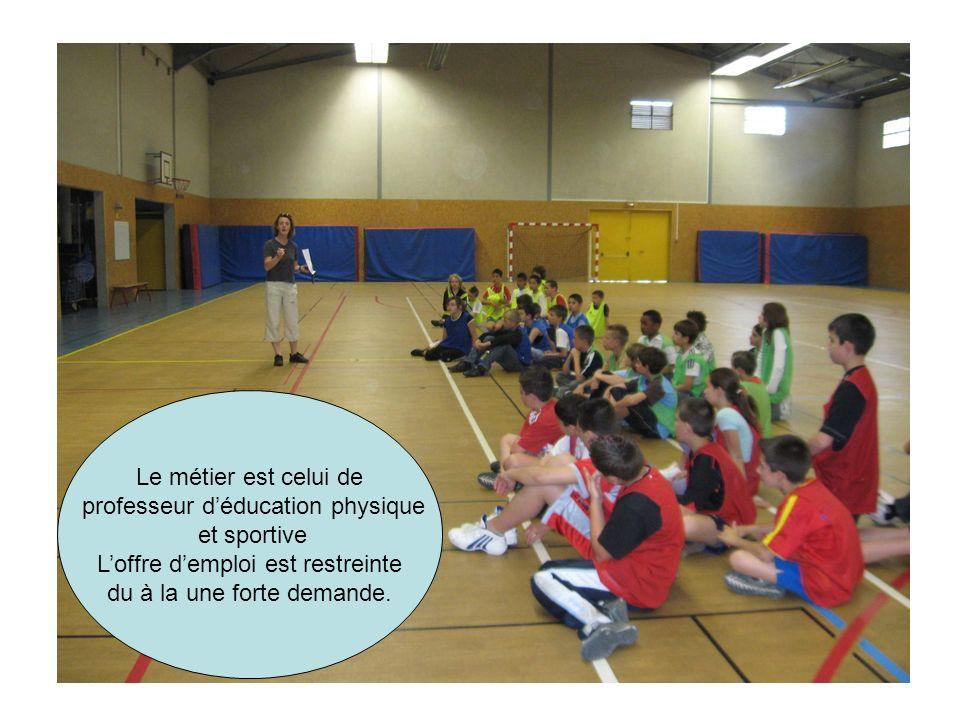 Le métier est celui de professeur déducation physique et sportive Loffre demploi est restreinte du à la une forte demande.