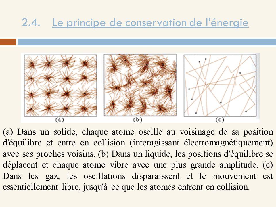 2.4.Le principe de conservation de lénergie Expérience de Rumford.