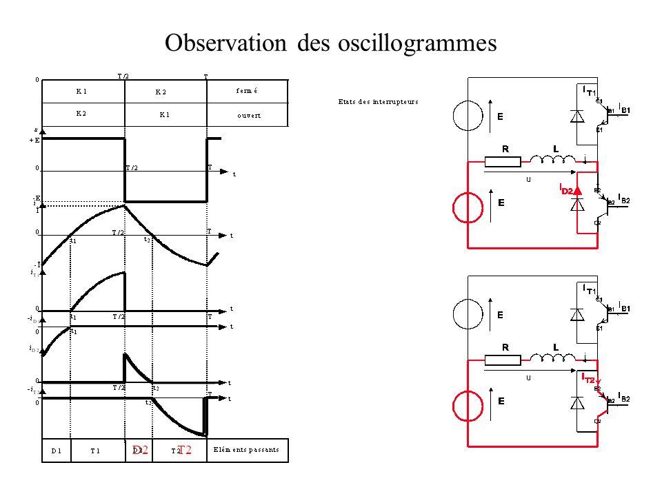 Observation des oscillogrammes D2T2