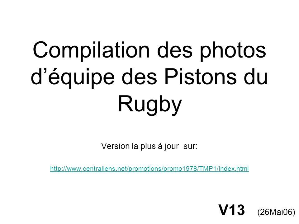 Rugby à 7 1985 / Les noms 1 P.Haxaire (83) 2 A. Verge (85) 3 F.