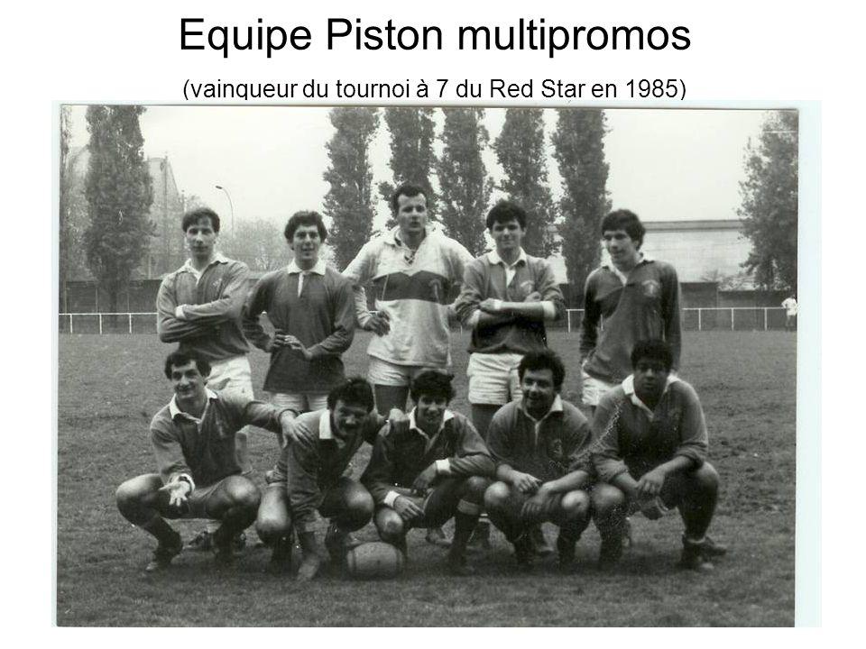 Equipe Piston multipromos (vainqueur du tournoi à 7 du Red Star en 1985)