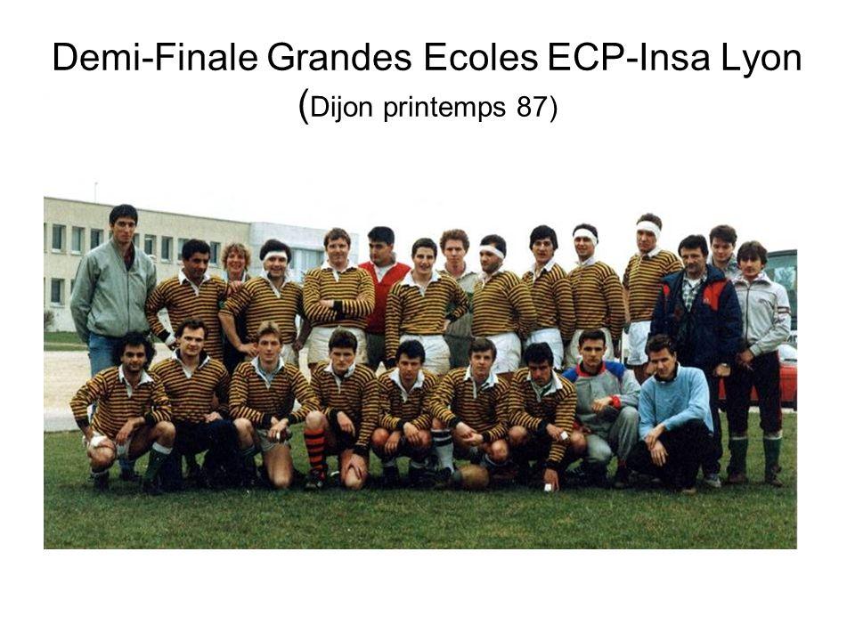 Demi-Finale Grandes Ecoles ECP-Insa Lyon ( Dijon printemps 87)