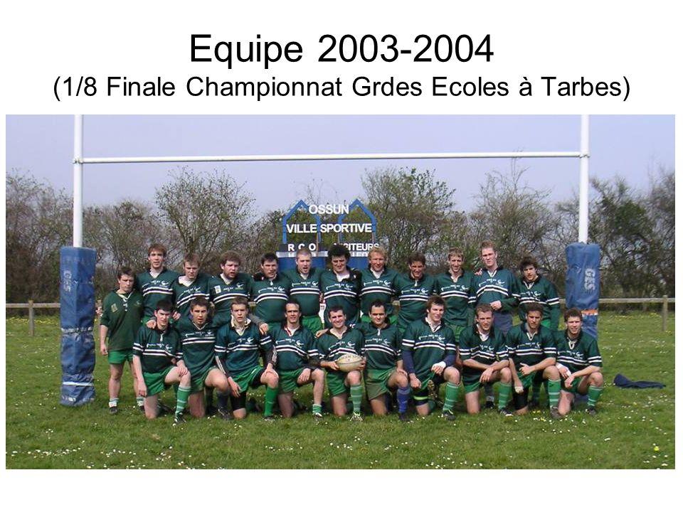 Equipe 2003-2004 (1/8 Finale Championnat Grdes Ecoles à Tarbes)
