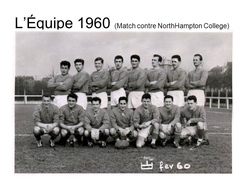 Équipe 1960 / Les Noms Source: Gaulhet (photo et noms) 1 2 3 4 56 7 8 910 1112 13 14 15