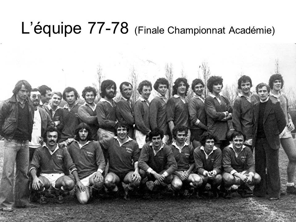 Léquipe 77-78 (Finale Championnat Académie)