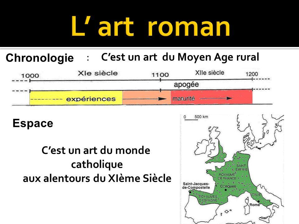: Cest un art du Moyen Age rural Chronologie Espace Cest un art du monde catholique aux alentours du XIème Siècle