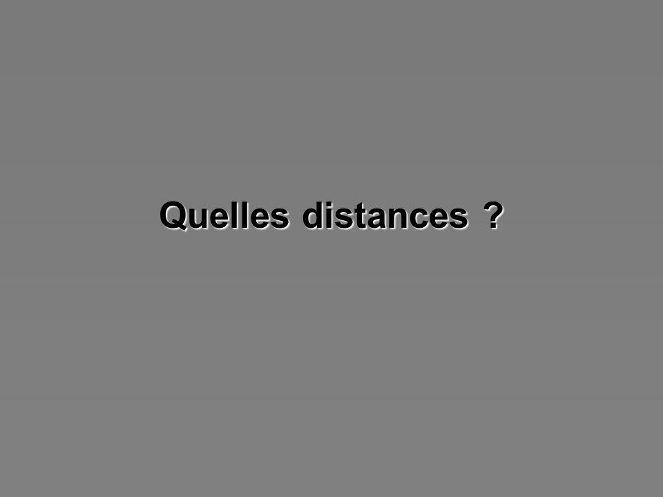 Quelles distances ?