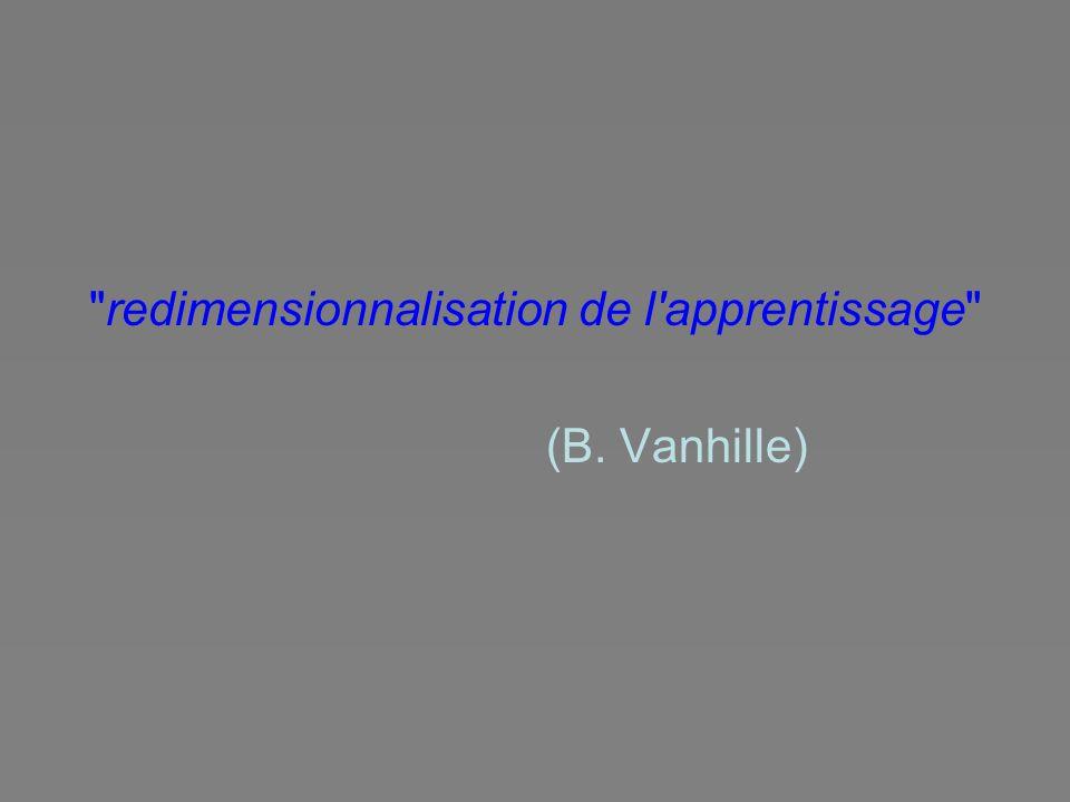 redimensionnalisation de l apprentissage (B. Vanhille)