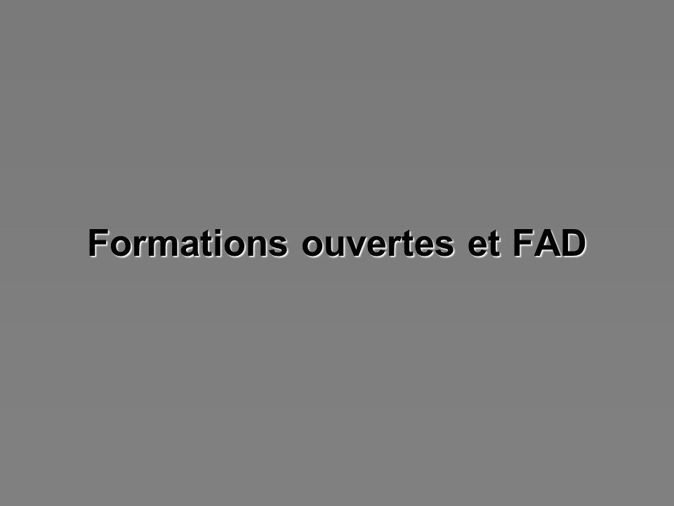 Formations ouvertes et FAD