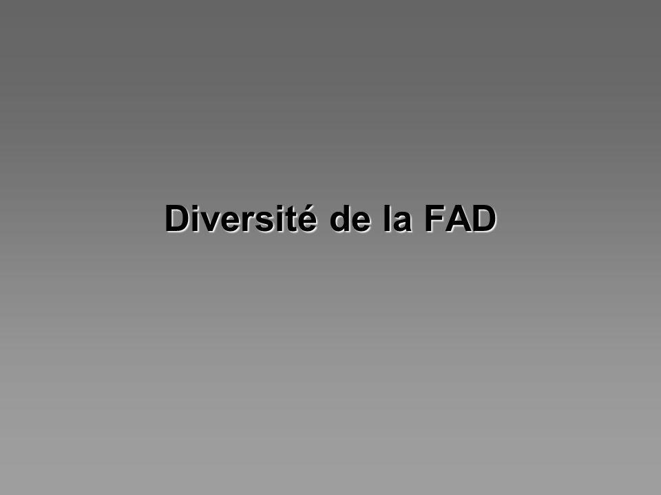 Diversité de la FAD