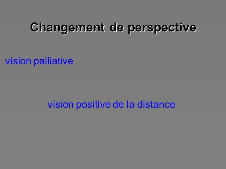 Changement de perspective vision palliative vision positive de la distance