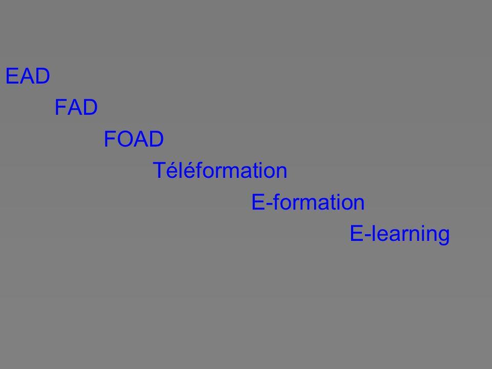 Définition du collectif de Chasseneuil (2000) Une Formation Ouverte et A Distance : est un dispositif organisé, finalisé, reconnu comme tel par les acteurs ; qui prend en compte la singularité des personnes dans leurs dimensions individuelle et collective ; et repose sur des situations d apprentissage complémentaires et plurielles en termes de temps, de lieux, de médiations pédagogiques humaines et technologiques, et de ressources
