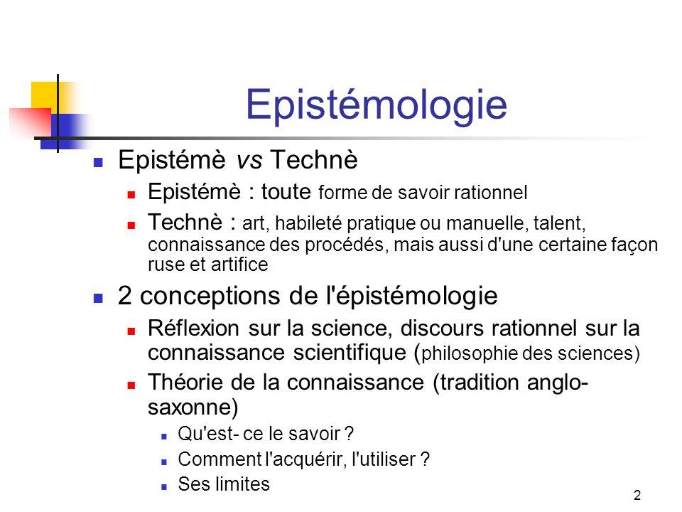 3 Qu est-ce qui fonde la connaissance scientifique .