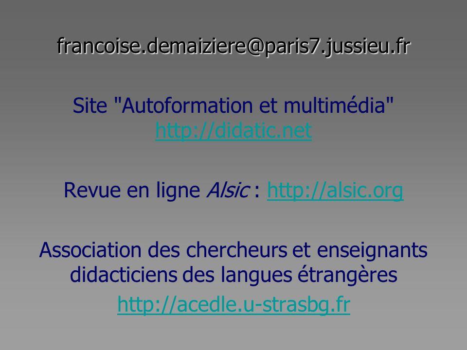 francoise.demaiziere@paris7.jussieu.fr Site
