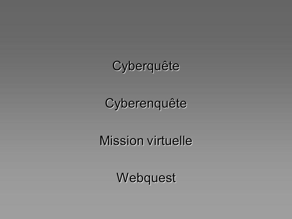 CyberquêteCyberenquête Mission virtuelle Webquest
