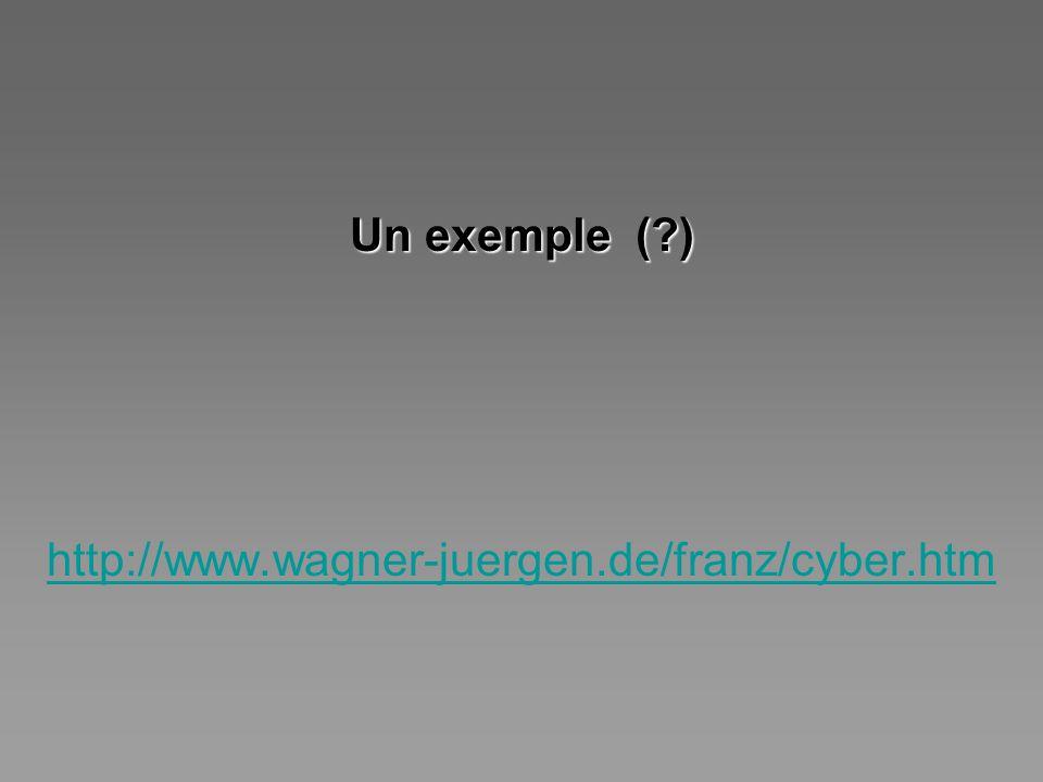 Un exemple (?) http://www.wagner-juergen.de/franz/cyber.htm